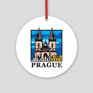 Prague5 Round Ornament