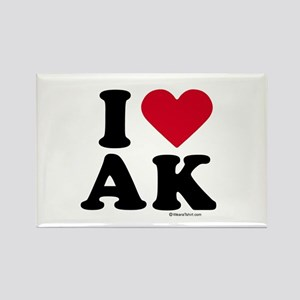 I Love Alaska ~ Rectangle Magnet