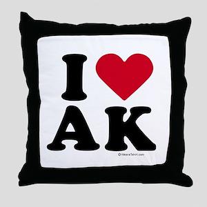 I Love Alaska ~  Throw Pillow