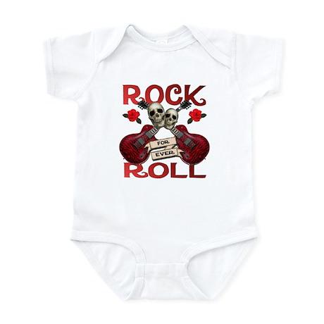 Rock N' Roll 4 Ever Rose Leaf Infant Bodysuit