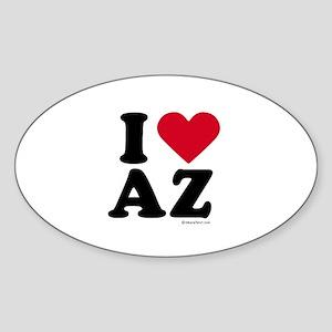 I Love Arizona ~ Oval Sticker