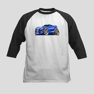 Viper GTS Blue Car Kids Baseball Jersey
