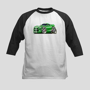 Viper GTS Green Car Kids Baseball Jersey