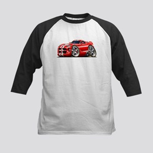 Viper GTS Red Car Kids Baseball Jersey