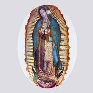 Our Lady of Guadalupe Oval Ornament