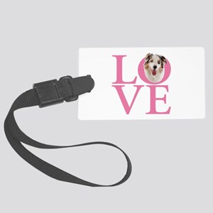 Gifts for Australian Shepherd Lo Large Luggage Tag