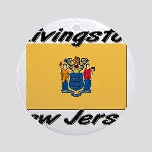 Livingston New Jersey Ornament (Round)