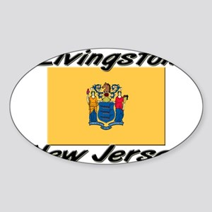 Livingston New Jersey Oval Sticker