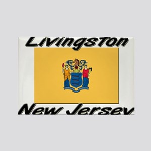 Livingston New Jersey Rectangle Magnet