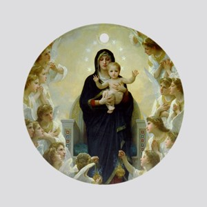 Bouguereau Virgin with Angels Ornament (Round)