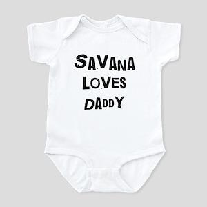 Savana loves daddy Infant Bodysuit