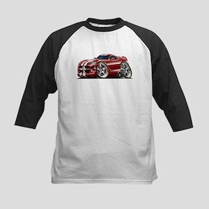 Viper GTS Maroon Car Kids Baseball Jersey