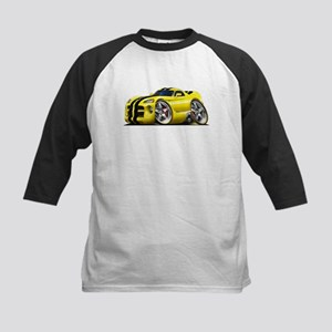 Viper GTS Yellow Car Kids Baseball Jersey