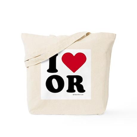 I Love Oregon ~ Tote Bag