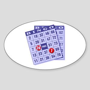 Bingo 24/7 Oval Sticker