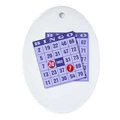 Bingo 24/7 Oval Ornament