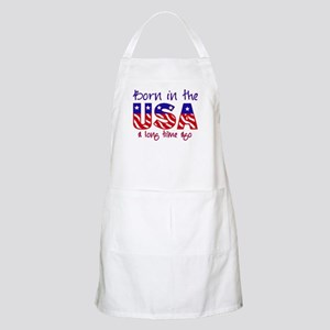 born in the USA BBQ Apron