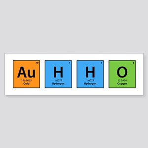 Au H2 O (Goldwater) Bumper Sticker