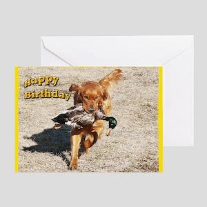 Golden Retriever Hunting Greeting Card