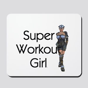 Super Workout Girl Mousepad