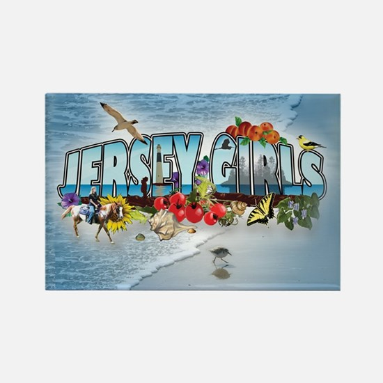 Jersey Girls Rectangle Magnet B