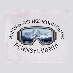 Seven Springs Mountain Resort - Se Throw Blanket