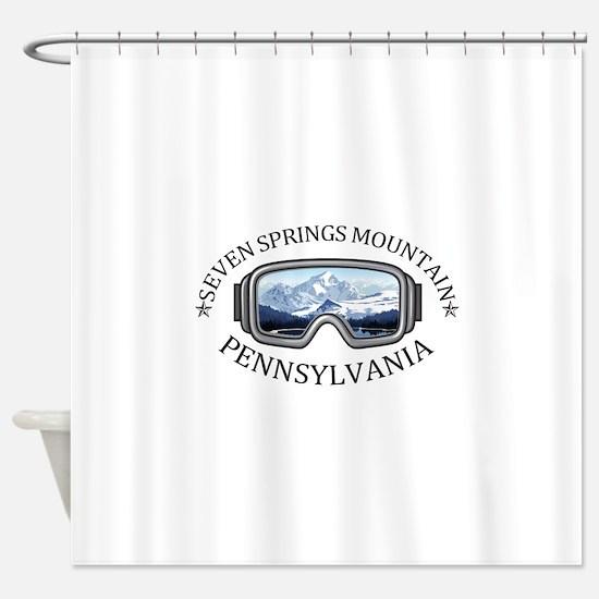 Seven Springs Mountain Resort - S Shower Curtain