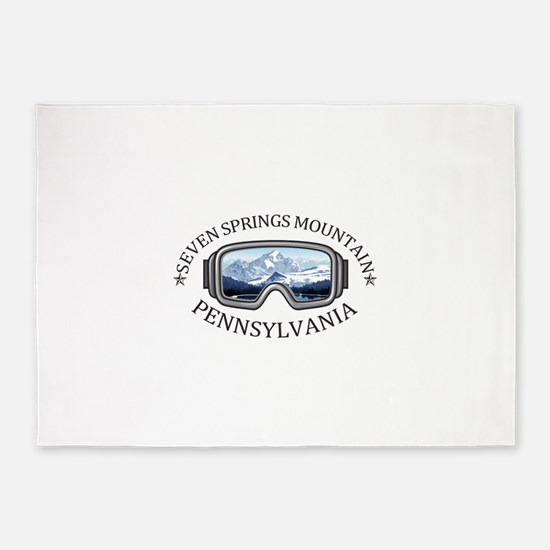 Seven Springs Mountain Resort - S 5'x7'Area Rug