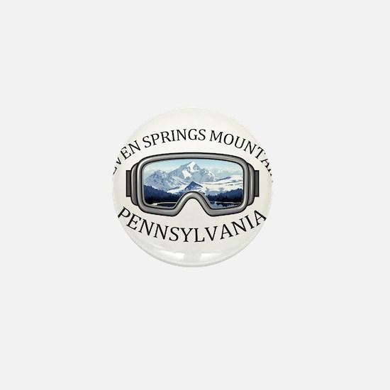 Seven Springs Mountain Resort - Seve Mini Button