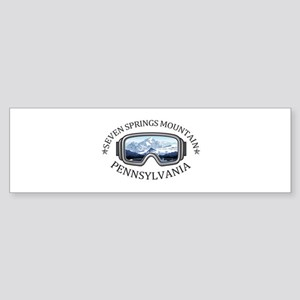 Seven Springs Mountain Resort - S Bumper Sticker