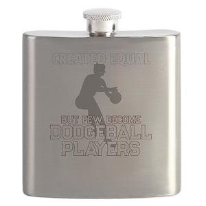 Dodgeball Player Gift for Men Flask