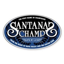 Santana's Champ' Oval Sticker