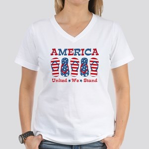 Flip Flop America Women's V-Neck T-Shirt