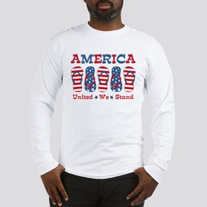 Flip Flop America Long Sleeve T-Shirt