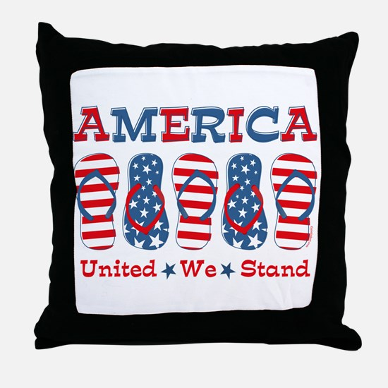 Flip Flop America Throw Pillow