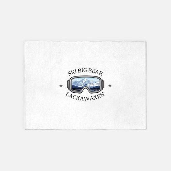 Ski Big Bear - Lackawaxen - Penns 5'x7'Area Rug