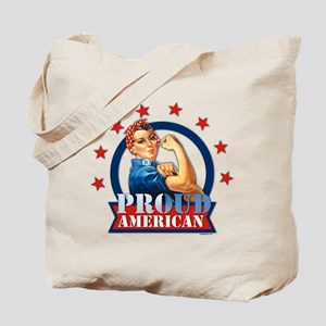 Rosie Riveter Proud American Tote Bag