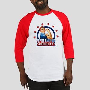 Rosie Riveter Proud American Baseball Jersey