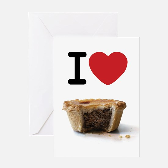 I heart Meat Pies Greeting Card
