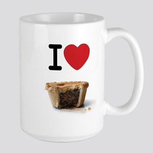 I heart Meat Pies Large Mug