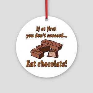 Eat Chocolate! Ornament (Round)