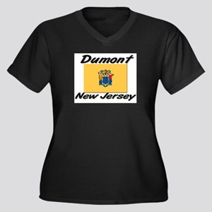 Dumont New Jersey Women's Plus Size V-Neck Dark T-