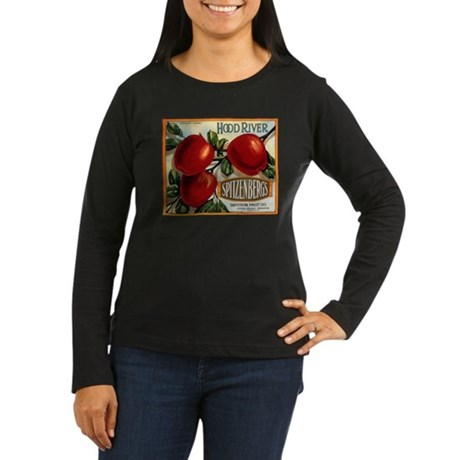 Hood River Women's Long Sleeve Dark T-Shirt
