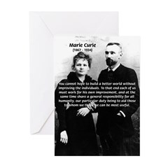 Humanity Marie Curie Greeting Cards (Pk of 10)