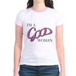 I'm A Good Woman Products Jr. Ringer T-Shirt