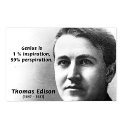 Thomas Edison: Genius Postcards (Package of 8)
