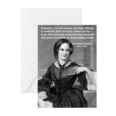 Novelist Charlotte Bronte Greeting Cards (Package