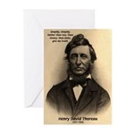 Henry David Thoreau Greeting Cards (Pk of 10)
