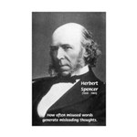 Herbert Spencer Misleading Thoughts Print