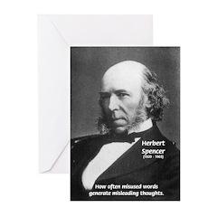 Evolutionist Herbert Spencer Greeting Cards (Packa
